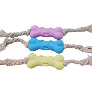 Hueso de Juguete con Cuerdas