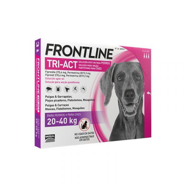 Pipetas Antiparasitarias para Perro Frontline Tri-Act