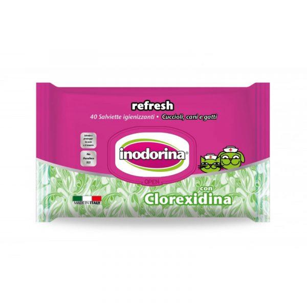 Toallitas Inodorina con Clorhexidina