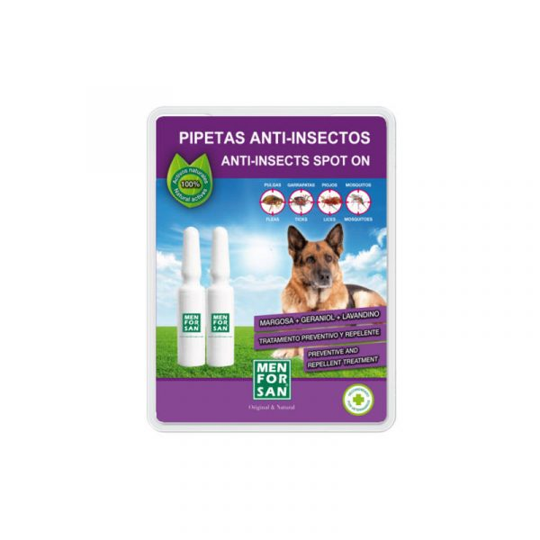 Pipetas Antiparasitarias Menforsan para Perros