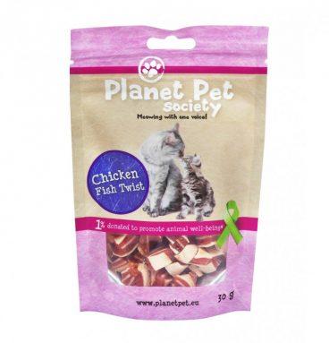 Snacks Planet Pet Sabor a Pollo y Pescado