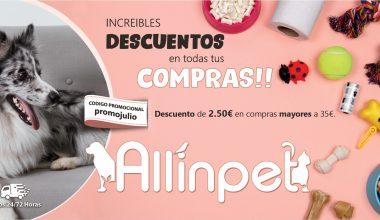 Descuento de 2.50€ Para Toda Nuestra Familia de Allinpet!