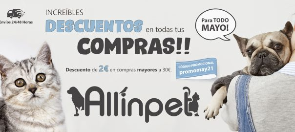 Allinpet.com Descuento de 2€ Mayo 2021